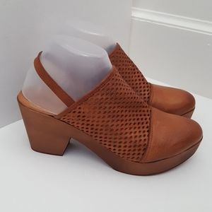 New Free People Logan leather sling back clog 8/39
